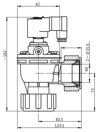 Compression fitting pulse valve