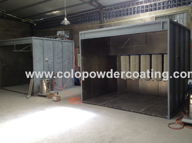 Industrial Powder Spray Booth Systems Energy Saving / Economical