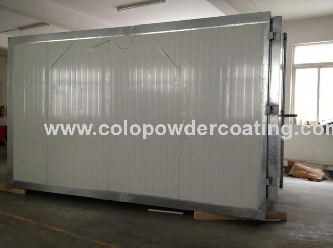 9 / 16 / 30CBM Powder Coating Oven With Gasoline / Diesel Oil Burner