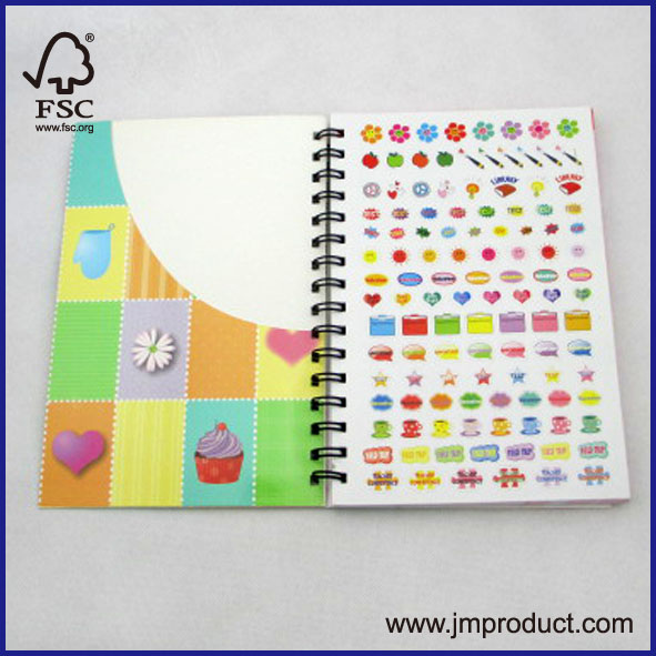 card cover spiral notebook