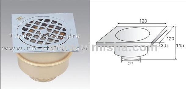 Brass Chrome Plated High-Sealed Anti-Odor Floor Drain with Outlet Diameter 2