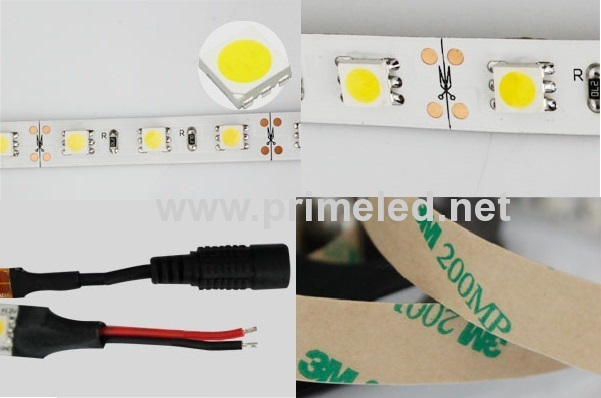 white pcb white 5050 SMD LED Strip lights