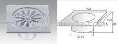 Square High Grade Aluminium Anti-odor Floor Drain with Outlet Diameter 45mm