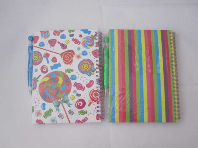 B6 4 subject college ruled hardcover spiral notebookwith pen