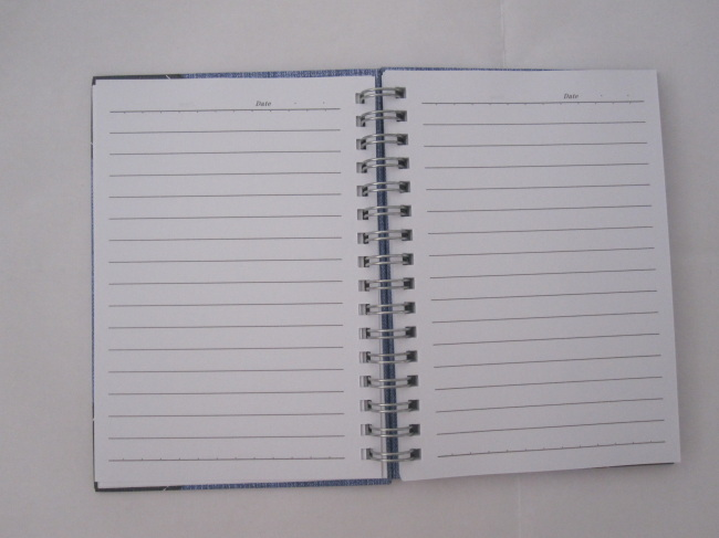 A6 2 subject hardcover spiral notebook good quality