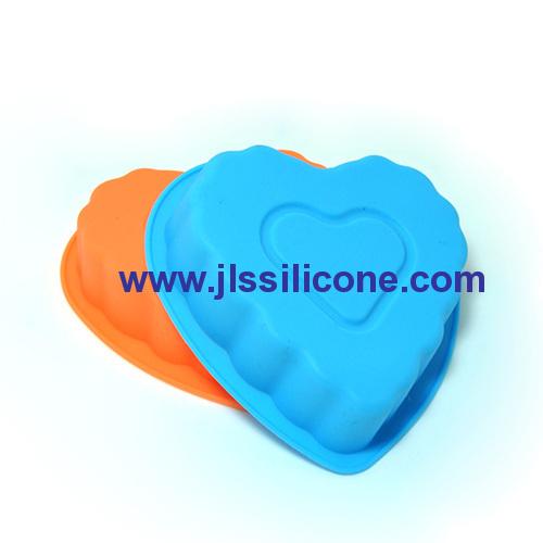 DIY series mini heart silicone baking cake pan