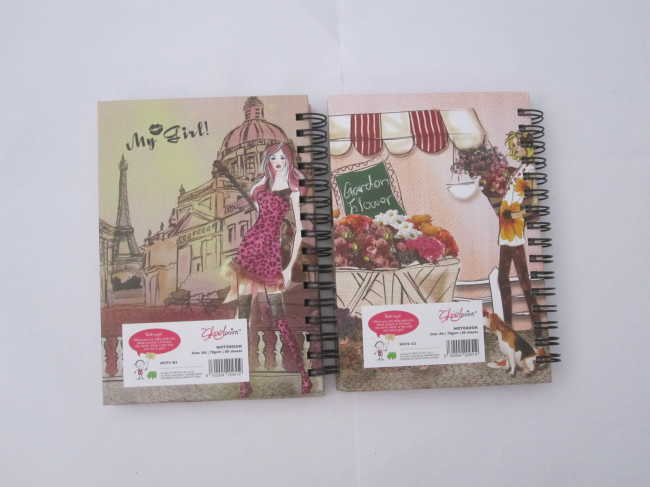 A6 carton hardcover spiral notebook/notepad collegeg ruled