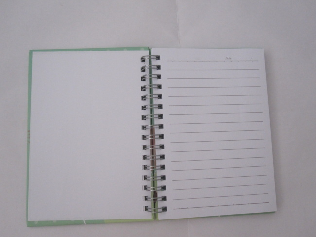 A6 3 subjectcollege ruled hardcover spiral notebook hot sale