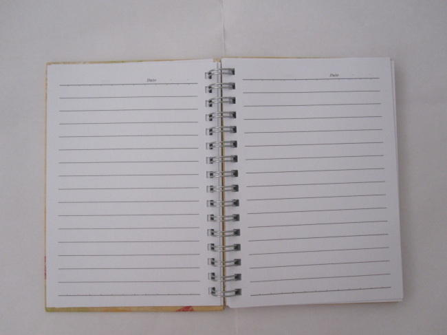 A6 2 subjectcollege ruled hardcover spiral notebook
