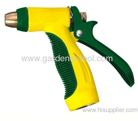 Zinc 2-way garden water spray nozzle with 2 different color hand