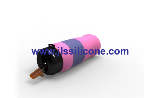 reusable silicone sports water bottle