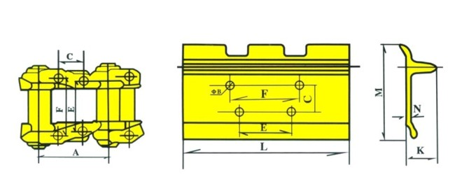 SK220-1 track shoe undercarriage parts for KOBELCO excavator