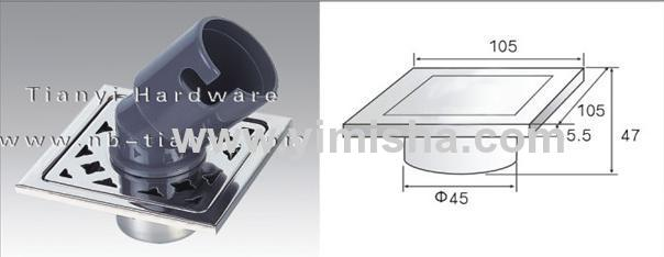 105mm×105mm×5.5mm Stainless Steel Floor drain for Washing Machine