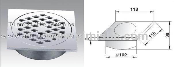 High Grade Casting Stainless Steel Floor Drain with Outlet Diameter 102mm