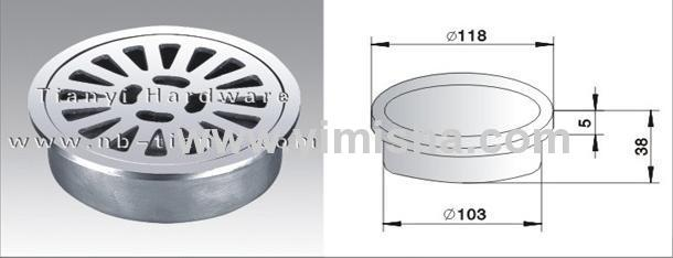 Round High Grade Casting Stainless Steel Floor Drain with Outlet Diameter 103mm
