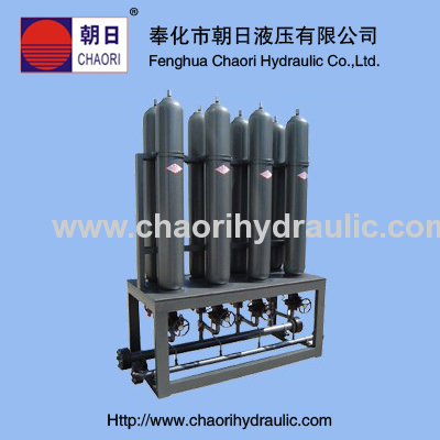 high quality piston accumulator station