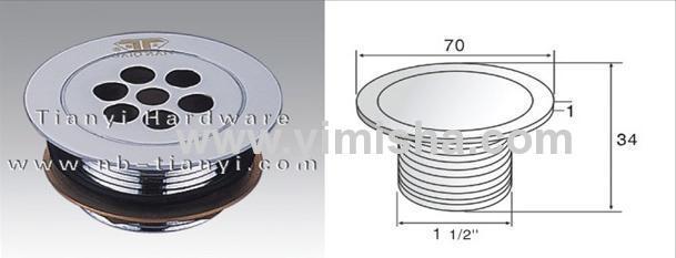 Φ70mm YIMISHABrass Chrome Plated Waste Drain