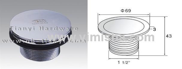 Φ69mm*3mm Brass pop-up Chrome Plated Waste Drain