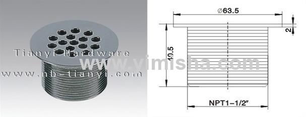 Round Brass Chrome Plated Waste Drain