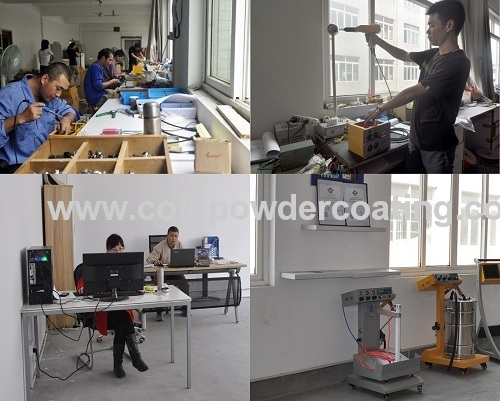 Portable Intelligent with 10X20CM Glass Powder Hopper for testing Manual Powder Coating Machine COLO-800DT-B