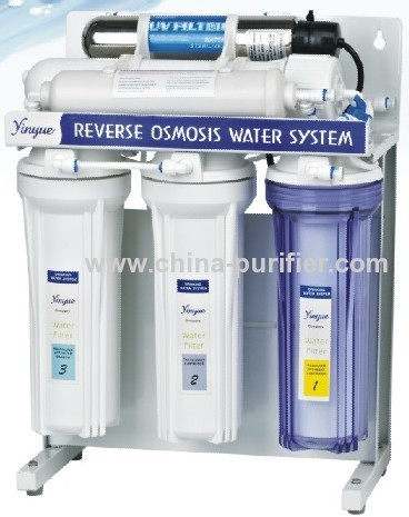 Reverse Osmosis system with metal stand