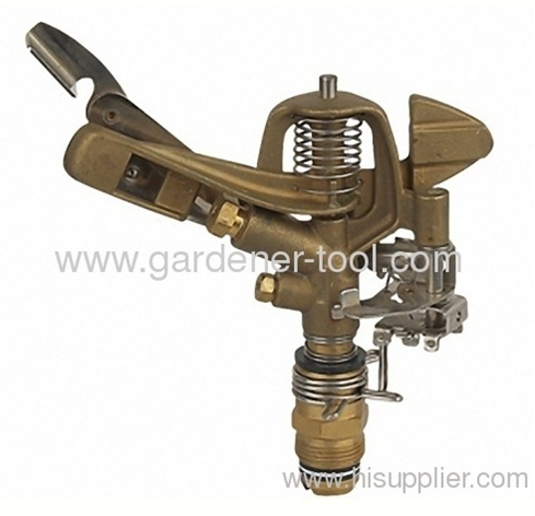 Brass Impulse Sprinkler With G3/4male thread tap and brass nozzle
