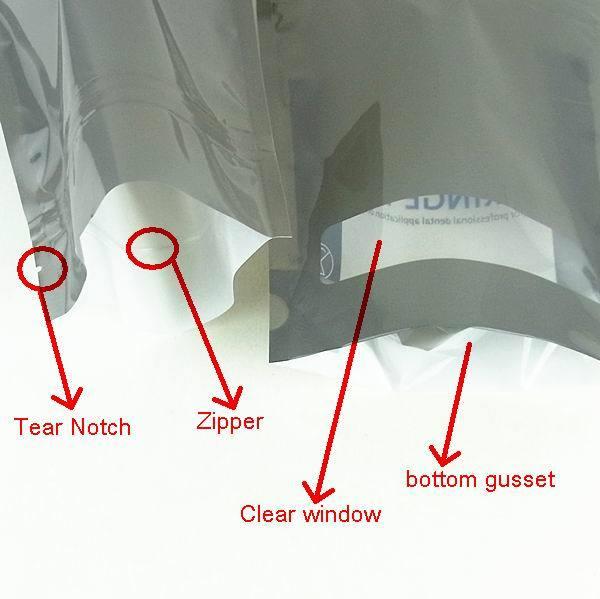 cosmetics aluminum foil stand up pouch zipper bag