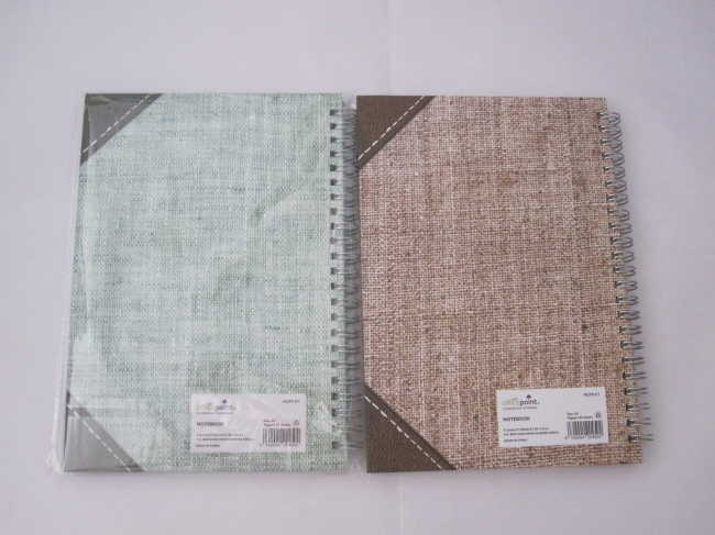 A5 college ruled hardcover spiral notebook2 subject