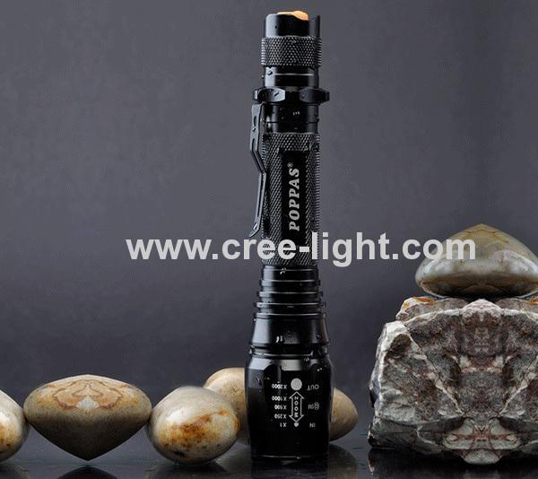 500 lumens Telescopic Aluminium LED flashlight CREE XML-T6 Bulb ACK-1045-T6