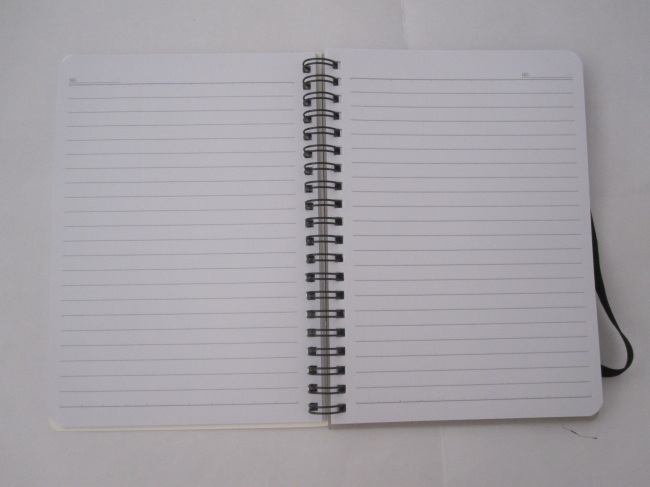 A6 2 subjectcollege ruled hardcover spiral notebook with rubber band