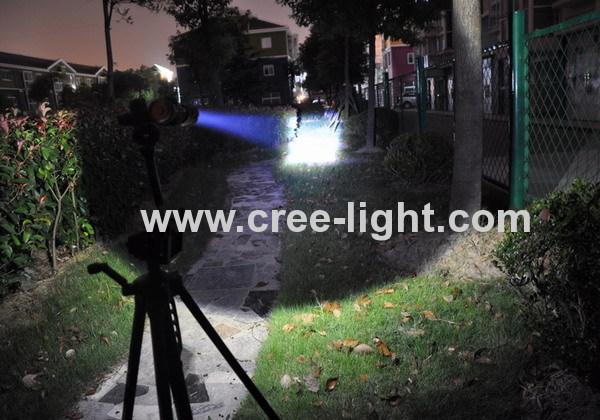 High PowerFocus 500lumens CREE XML-T6 LED Aluminum Flashlight ACK-1045-C