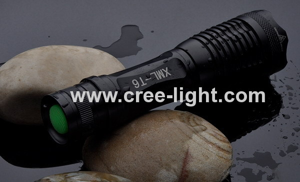 High PowerFocus 500lumens CREE XML-T6 LED Aluminum Flashlight ACK-1045-C