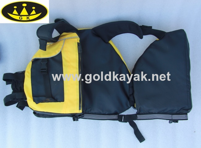 life vest used on kayak or other water sports very safety
