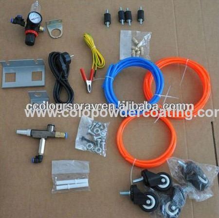 electrostatic powder hopper gun unit