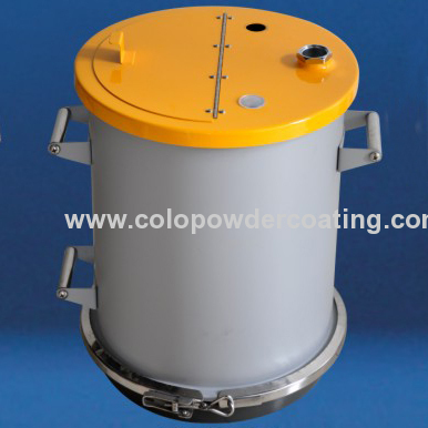 Fluidizing 50lb powder container feed electristatic manual powder coating machine colo-500 star