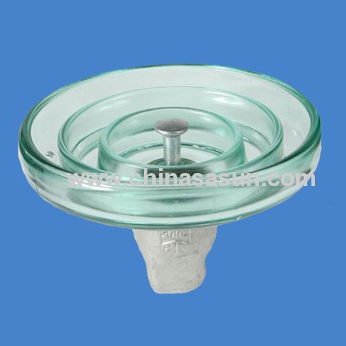 120KN standard porfile glass insulator