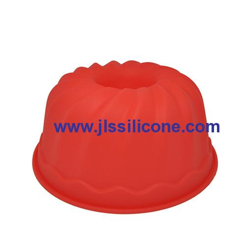 hot red silicone bundt cake baking molds