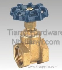 Horizontal Manual Brass Blue Color Handle Two General Formula Hard Seal Gate Valve
