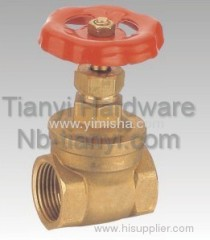 Horizontal Brass Red Color Handle Two General Formula Gate Valve