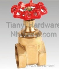 Manual Brass Red Handle Two General Formula Gate Valve