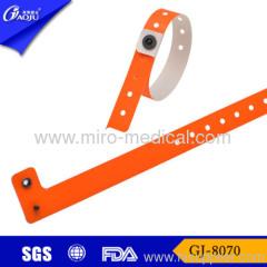 Write on snap locking wristbands
