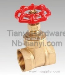 Horizontal Manual Brass Red Color Handle Thread Hard Seal Gate Valve