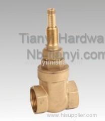 Horizontal Manual Brass Bi-directional Hard Seal Gate Valve