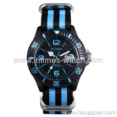 custom watches 44mm IT-057N plastic case nylon bracelet Japan Movt. From Intimes brand custom watches collection
