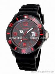 Intimes sport watch IT-057S watch movement japan quartz 5ATM water-resistant plastic case silicon band