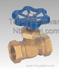"1/2"" Horizontal Manual Brass Blue Color Handle Bi-directional Stop Valve"