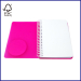 fashion colorful spiral notebook