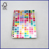 laser cover spiral notebook