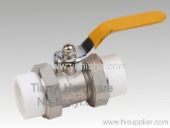 Manual Brass Yellow Handle PP-R Hard Seal Thread Ball valve