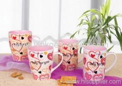 Heart Design Stoneware Cup
